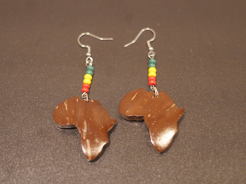 Earrings + Africa handmade pendants