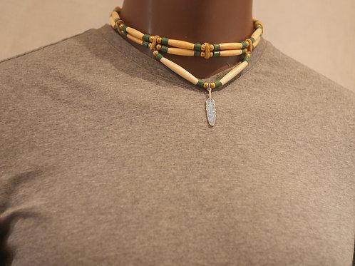 2 row choker + pendant