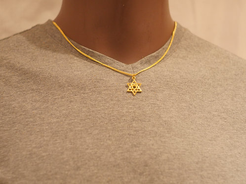 Chain + Star of David pendant