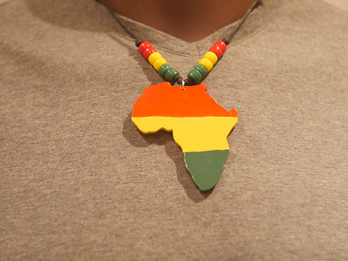 Necklace + Africa handmade pendant