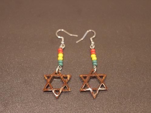 Earrings + Star of David handmade pendants