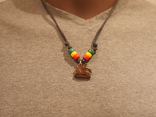 Necklace + Conquering Lion handmade pendant