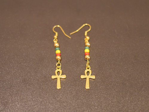 Earrings + Ankh pendants