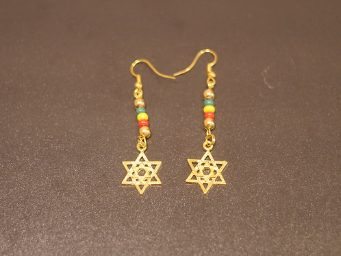 Earrings + Star of David pendants