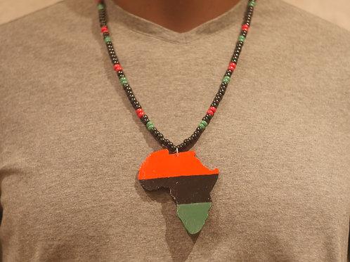 Bead chain + Africa handmade pendant