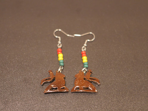 Earrings + Conquering Lion handmade pendants