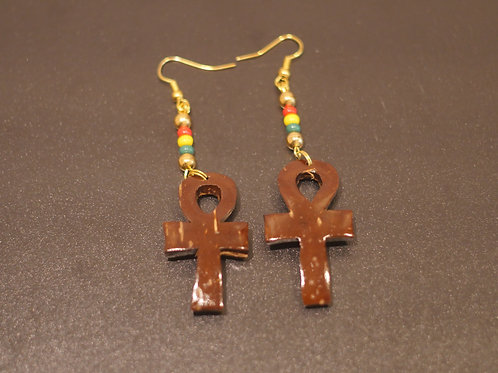 Earrings + Ankh handmade pendants