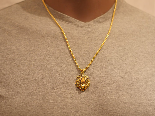 Chain + Roaring Lion pendant