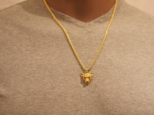 Chain + Cheetah pendant