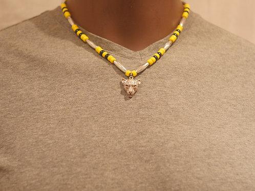 Bead chain + Cheetah pendant