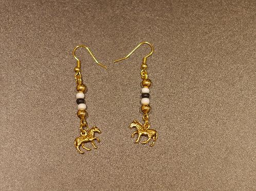 Earrings + Zebra pendants