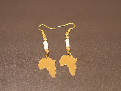 Earrings + Africa pendants