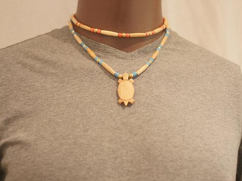 2 row necklace + pendant