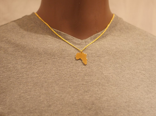 Chain + Africa pendant