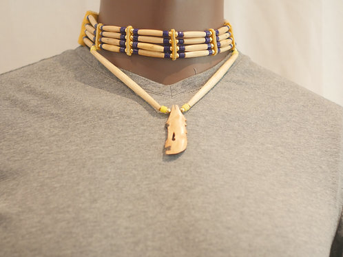 4 row choker + pendant