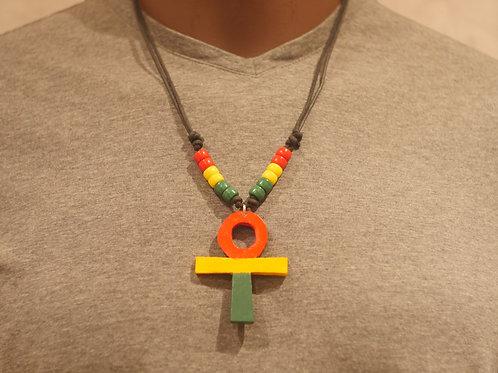 Necklace + Ankh handmade pendant