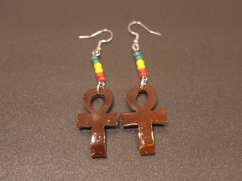 Earrings + Ankh handmade pendants