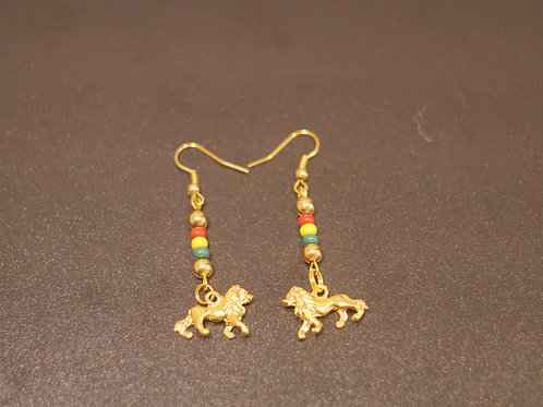 Earrings + Lion pendants