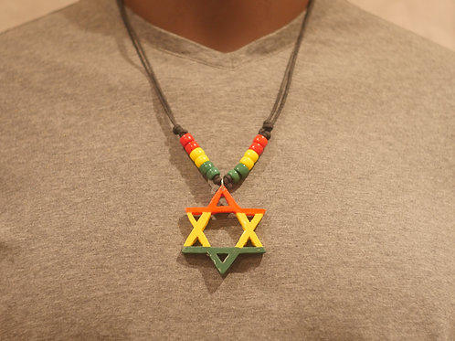 Necklace + Star of David handmade pendant