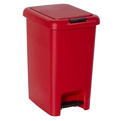 Lixeira 10L de Dupla abertura - Astra vermelho - 070421