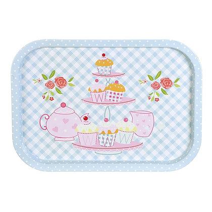 Bandeja Retangular 40 cm, Cupcakes - Art House - 060205