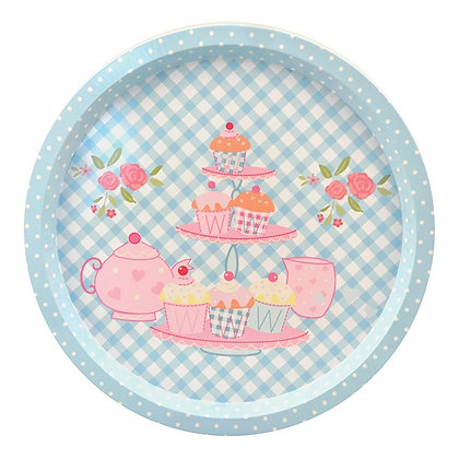 Bandeja Redonda Ø 32 cm, Cupcakes - Art House - 060204