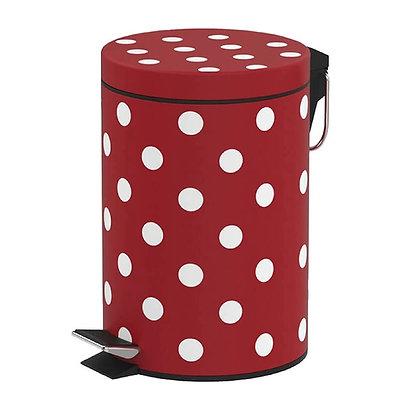 Lixeira de Inox 5L Poá com pedal - Art House vermelho - 050021