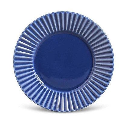 Prato Raso Ø 26 cm Azul Plisse - Porto Brasil - 020341