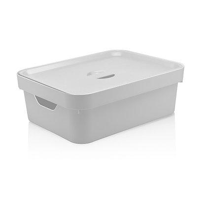 Caixa Organizadora Cube M, com Tampa 10,5L  <OU> Branco - 070115