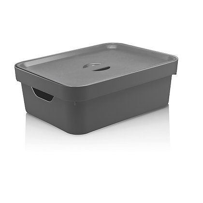 Caixa Organizadora Cube M com Tampa 10,5L  <OU> Cinza - 070115