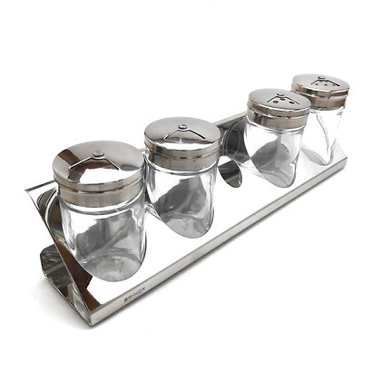 Conjunto Porta Condimentos, 5 peças - Brinox - 050147
