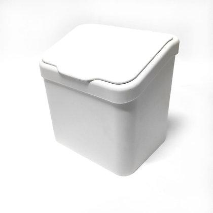 Lixeira Paraoia Premium 6L c/ Tampa - Plastutti branco - 070670