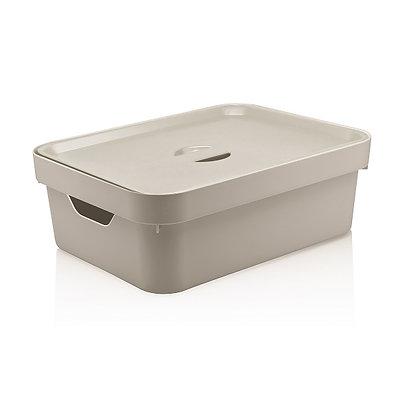 Caixa Organizadora Cube M com Tampa 10,5L <OU> Bege - 070115