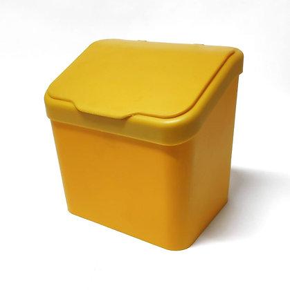 Lixeira Paraoia Premium 6L c/ Tampa - Plastutti amarelo - 070670