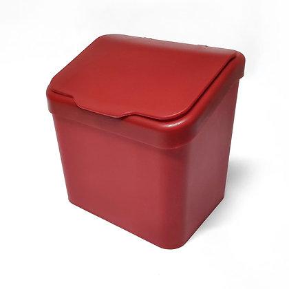 Lixeira Paraoia Premium 6L c/ Tampa - Plastutti vermelho - 070670