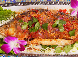 Fried Whole Fish with Spicy Sauce