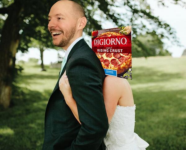 Austin Tolin Wedding DiGiorno Pizza