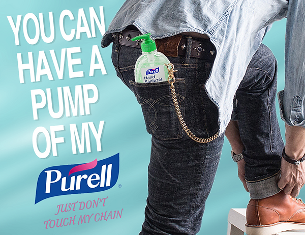 Purell Hand Sanitizer Wallet Chain