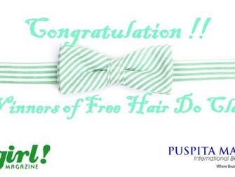 Pengumuman 50 Pemenang Hair Do Class
