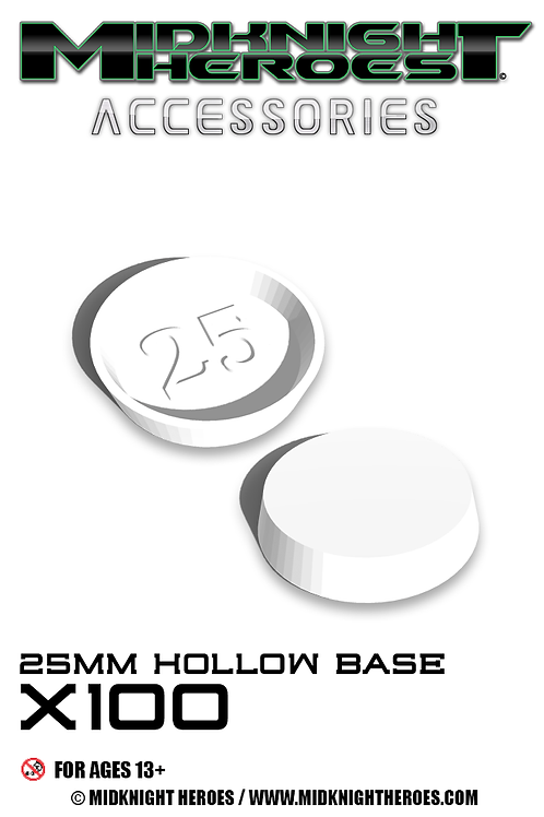 MKH Accessories 25mm  Hollow Bases x100