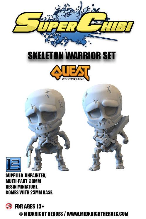 """Super Chibi """"Skeleton Warrior"""" Set"""