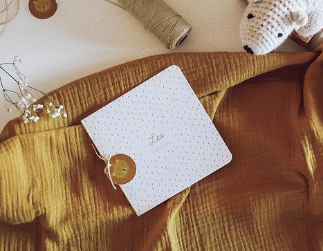 Petit Lion - Faire-Part de Naissance illustré avec ficelle & macaron