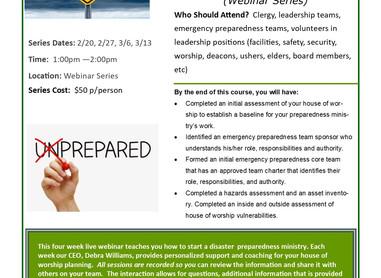 How to Start an Emergency Preparedness Ministry