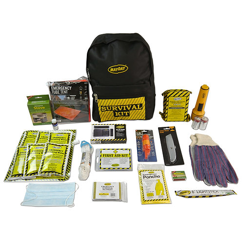 13033 - 1 Person Deluxe Emergency Backpack Kits