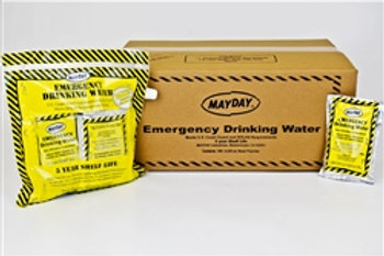 73010  Water Pouches with Drinking Container- Case of 100