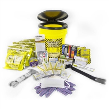 13020 Deluxe Emergency Honey Bucket Kits (4 Person Kit) with Matches