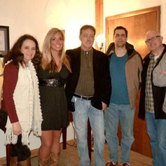 With Curt Ryle, and the band - 2012