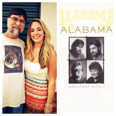With Teddy Gentry, of Alabama