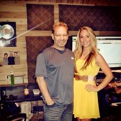 With producer and friend, Buddy Hyatt