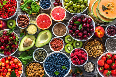 Selection of healthy food. Superfoods, v